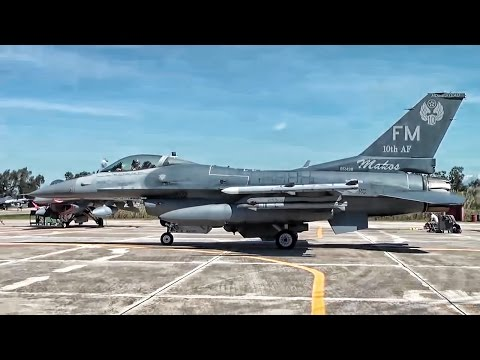 U.S. F-16s At Air Exercise In Greece • INIOHOS-17
