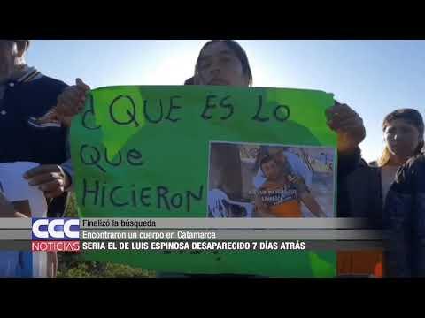 05 Encontraron un cuerpo en Catamarca  Sería el de Luis Espinosa desaparecido 7 días atrás