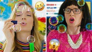 Toys in School! Pretend Play DIY Slime, Squishy School Supplies Pranks