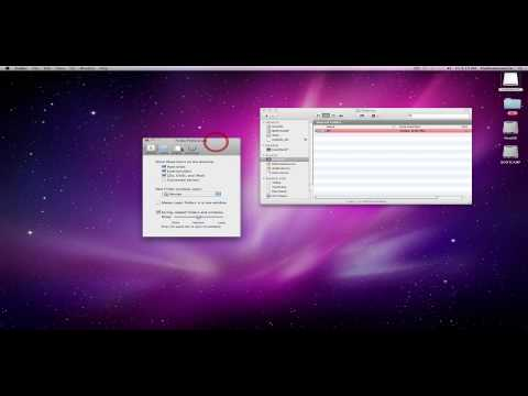 Mac OS X: Basics - The Finder Menu and Preferences