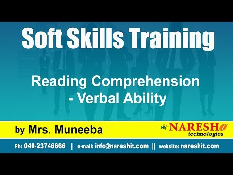 Reading Comprehension - Verbal Ability | Soft Skills Training