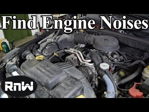 How to Find Engine Noises - Finding Pulley, Bearing, Tapping and Knocking Noises
