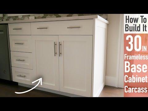 DIY 30in Base Cabinet Carcass (Frameless)