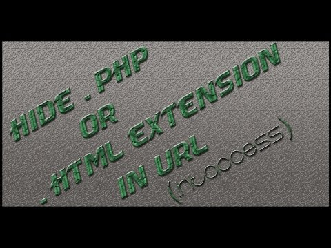 Hide .php or .html extension in url (.htaccess)