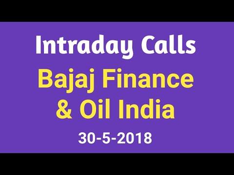 Intraday Calls 30 May 2018 - Bajaj Finance & Oil India Ltd