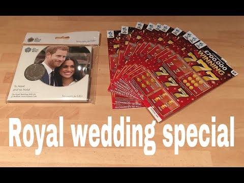 Scratchcards royal wedding Special