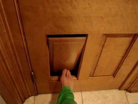Clever Cat Litter Box - Ragdoll Cat Door in a 6-Panel Door - ラグドール Floppycats
