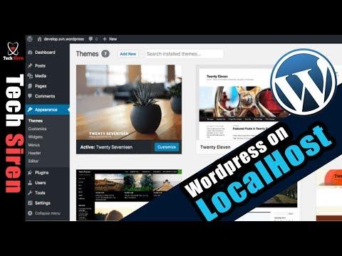 Create WordPress website on localhost.