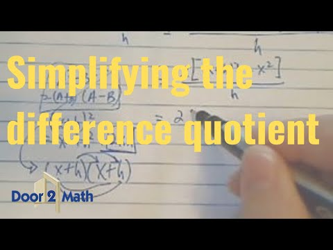 *^^how to find and simplify the difference quotient? [ f(x+h)-f(x)/h]