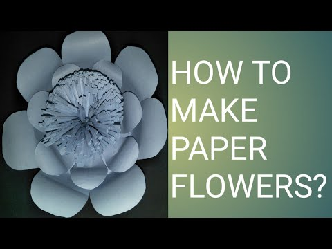 how to make paper flowers for decoration easy hanging paper flowers(Part-1)