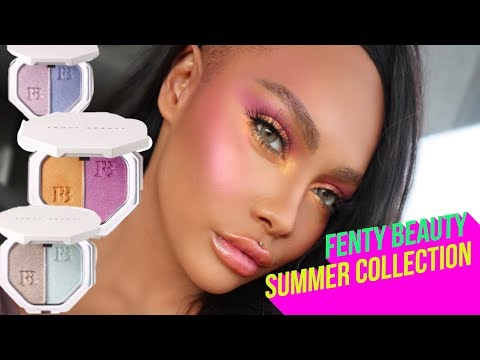 FENTY BY RIHANNA SUMMER COLLECTION REVIEW AND TUTORIAL | SONJDRADELUXE