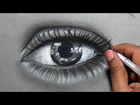 How to Draw a Real Eye With Pencil