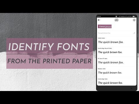 Identify Fonts From The Printed Paper