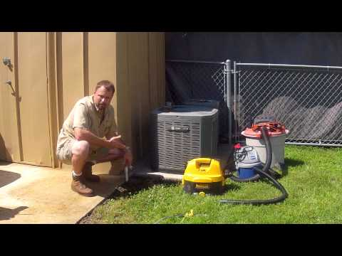Cleaning Condensate Drain Line