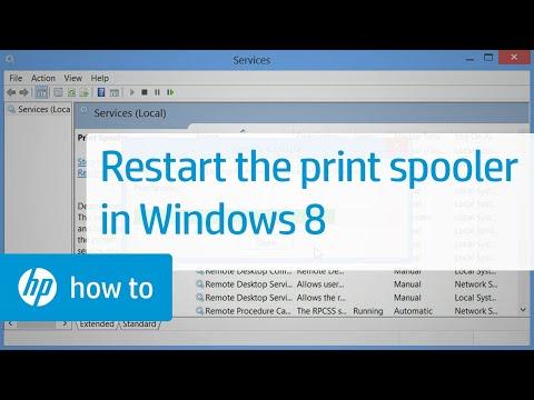 Restarting the Print Spooler in Windows 8
