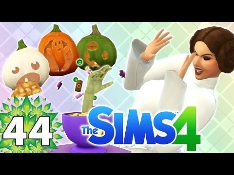 Let's Play The Sims 4 - Part 44 - Spooky Party!