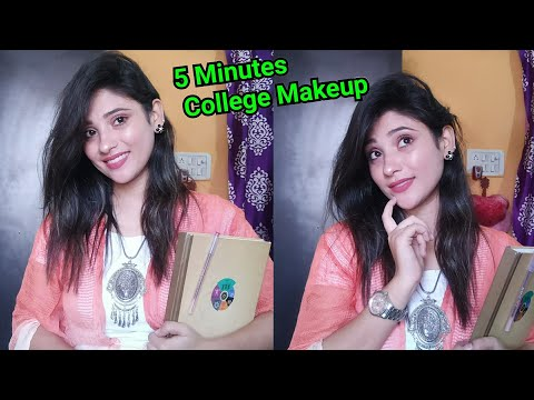 5 Minute college Makeup look || easy & quick || shystyles