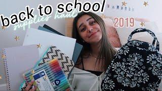 back to school supplies haul 2019