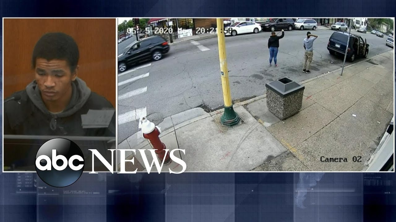 Surveillance cameras show George Floyd moments before his encounter with police