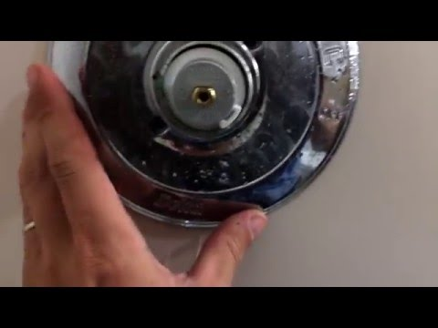 HOW TO remove stuck on shower handle & shower cartridge removal/change...