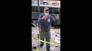 Dominicano llora de impotencia en Nueva York luego que manifestantes destrozaran su negocio