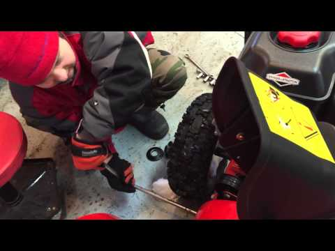 Changing a Snowblower belt with Brady