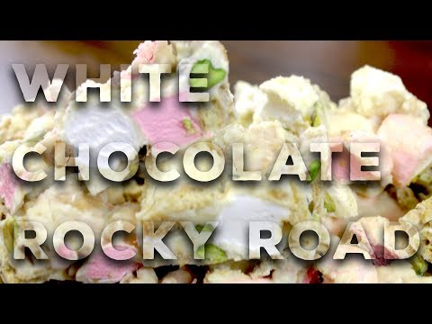 White Chocolate Rocky Road Recipe - With My Little Kitchen | Very Easy Dessert!