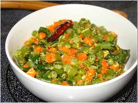 Carrot and Green Beans Poriyal within 5 min