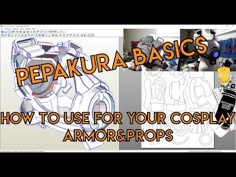 Pepakura basics, how to use for your foam cosplay armor and props