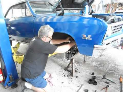 Lower ball joint's on eric's  67 chevelle press in type 2