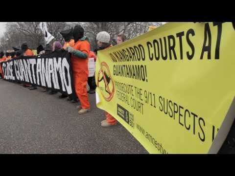 Protest Outside White House as Gitmo Enters 10th Year