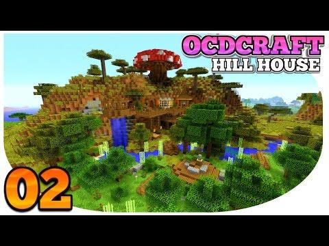 Minecraft PS4: Survival | OCDCRAFT | Hill Top House | OMG, SURVIVAL MUSHROOM HOUSE!! (E2)