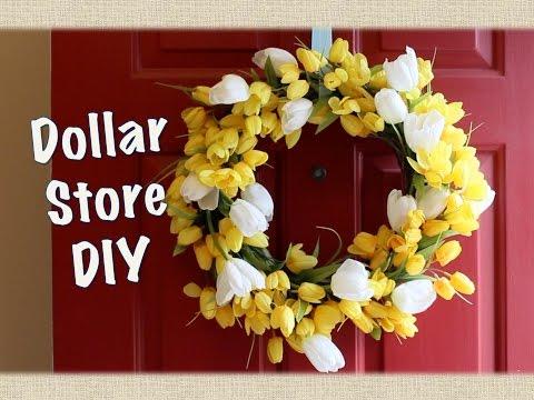 DOLLAR STORE DECOR: Spring Wreath DIY