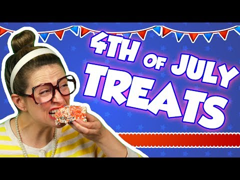 Firework Rice Krispie Treats with Candy Pop Rocks for 4th of July! | Arts and Crafts w/ Crafty Carol