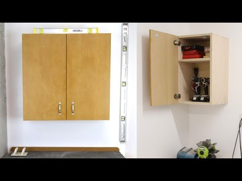 How To Build A Hanging Shop Cabinet