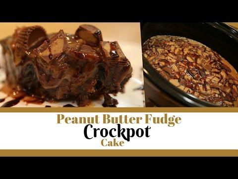 Peanut Butter Fudge Crockpot Cake
