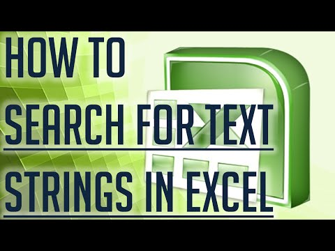 [Free Excel Tutorial] HOW TO SEARCH FOR TEXT STRINGS IN EXCEL - Full HD