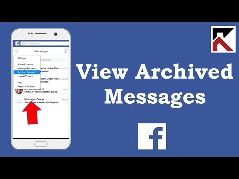 How To View Archived Messages On Facebook Or Messenger Websites