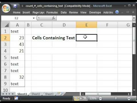 Count Cells That Only Contain Text in Microsoft Excel