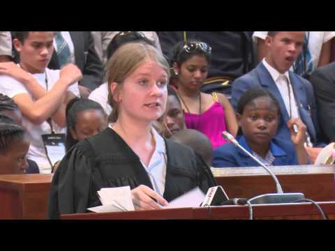 Finals of the 2015 National Schools Moot Court Competition