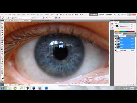 How To Change Eye Color and Hair Color in Photoshop
