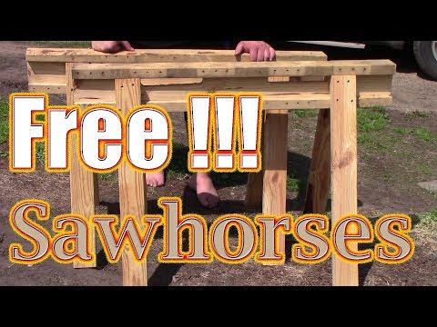 Build Sawhorses from Recycled Pallet Wood