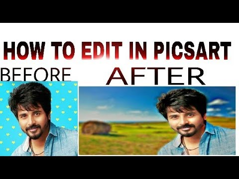 How to change background+effects edit PicsArt in tamil