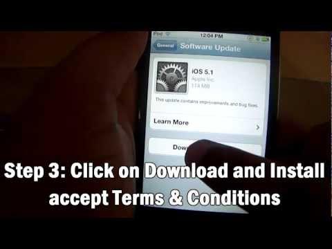 How to Update to iOS 5.1 on iPhone 4S, 4, 3GS iPod Touch 4G, 3G & iPad 1 & 2
