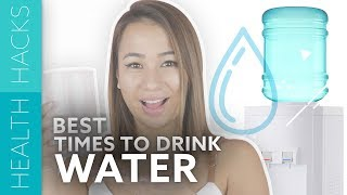 4 Best Times To Drink Water