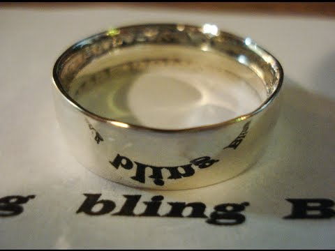 How to Polish Silver Coin Rings from Silver to Mirror