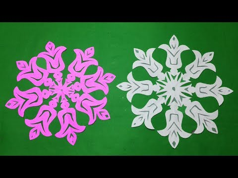 DIY-paper cutting#How to make paper cutting snowflake designs easy?paper snowflakes#papercraft.