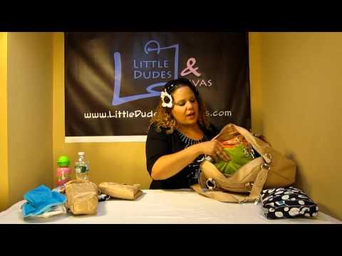 Storksak Elizabeth Diaper Bag Packed