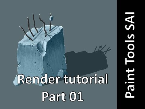 Paint Tools Sai - Rendering tutorial part 01