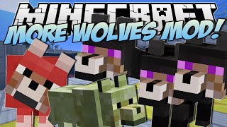 Minecraft | MORE WOLVES MOD! (Three Headed Wolf?!) | Mod Showcase